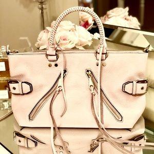 Rebecca Minkoff Moto Satchel Bag - Baby Pink